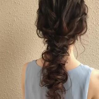 セミロング アンニュイほつれヘア ゆるナチュラル 結婚式ヘアアレンジ ヘアスタイルや髪型の写真・画像