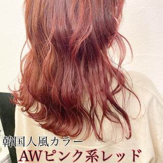 ハイトーンカラー セミロング ブリーチ ハイライト ヘアスタイルや髪型の写真・画像