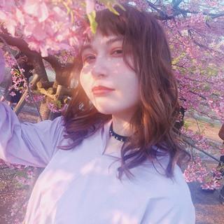 フェミニン パーマ フォワード 春スタイル ヘアスタイルや髪型の写真・画像 ヘアスタイルや髪型の写真・画像