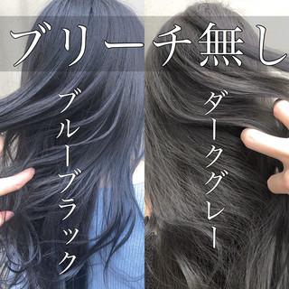 セミロング 簡単ヘアアレンジ グレージュ ウルフカット ヘアスタイルや髪型の写真・画像