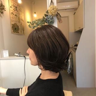 女子力 ボブ ナチュラル 秋 ヘアスタイルや髪型の写真・画像