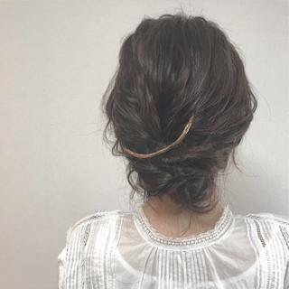 ヘアアレンジ ゆるふわ 簡単ヘアアレンジ ナチュラル ヘアスタイルや髪型の写真・画像