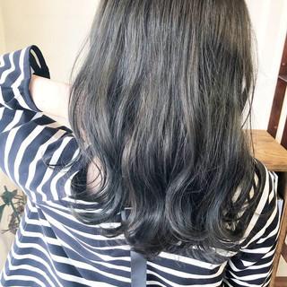 セミロング 女子力 ブルージュ 大人かわいい ヘアスタイルや髪型の写真・画像