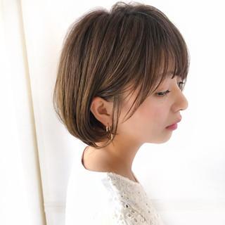 小顔 ゆるふわ 大人かわいい ショート ヘアスタイルや髪型の写真・画像