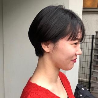 ショートヘア ナチュラル 大人かわいい 大人ショート ヘアスタイルや髪型の写真・画像