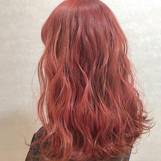 韓国ヘア カジュアル ラベンダーピンク ガーリー ヘアスタイルや髪型の写真・画像