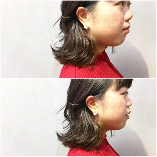 アッシュグレージュ TOKIOトリートメント ナチュラル グレージュ ヘアスタイルや髪型の写真・画像