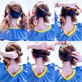 ヘアアレンジ 簡単ヘアアレンジ エレガント ロング ヘアスタイルや髪型の写真・画像 ヘアスタイルや髪型の写真・画像