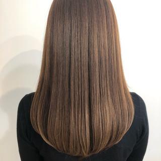 美髪 ブラウンベージュ グレージュ ナチュラル ヘアスタイルや髪型の写真・画像