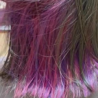 外ハネボブ インナーカラー ナチュラル ミディアム ヘアスタイルや髪型の写真・画像 ヘアスタイルや髪型の写真・画像