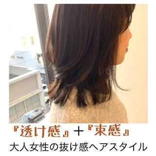 ミディアム 大人女子 大人ヘアスタイル 黒髪 ヘアスタイルや髪型の写真・画像