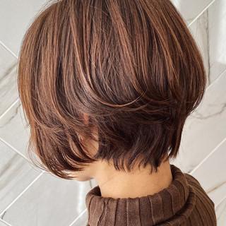 銀座美容室 ショートボブ ナチュラル ショートヘア ヘアスタイルや髪型の写真・画像
