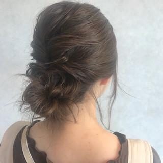 ヘアアレンジ 大人かわいい ミディアム ナチュラル ヘアスタイルや髪型の写真・画像 ヘアスタイルや髪型の写真・画像