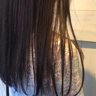 暗髪バイオレット 透明感カラー 360度どこからみても綺麗なロングヘア ロング ヘアスタイルや髪型の写真・画像