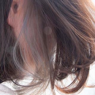#インナーカラー ボブ ナチュラル インナーカラー ヘアスタイルや髪型の写真・画像 ヘアスタイルや髪型の写真・画像