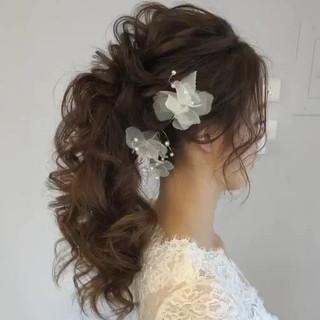 アンニュイほつれヘア ゆるふわ ロング エレガント ヘアスタイルや髪型の写真・画像