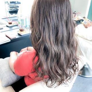 透明感カラー 大人カラー グレージュ ヘアカラー ヘアスタイルや髪型の写真・画像