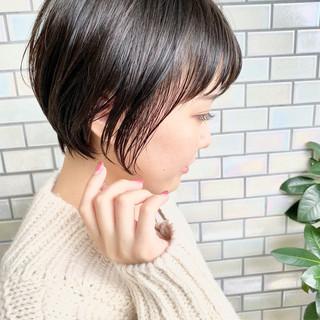 ナチュラル ショート デート ショートヘア ヘアスタイルや髪型の写真・画像
