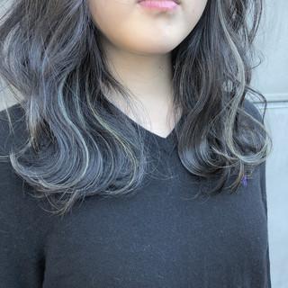 ゆるふわ ヘアアレンジ ウェーブ ミディアム ヘアスタイルや髪型の写真・画像