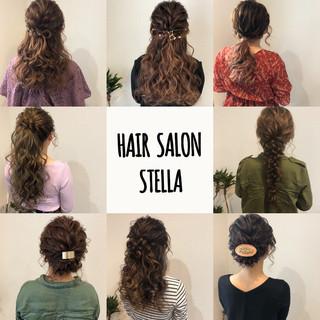 ヘアセット ヘアアレンジ ポニーテール セミロング ヘアスタイルや髪型の写真・画像