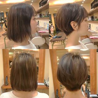 黒髪 艶髪 デート ショート ヘアスタイルや髪型の写真・画像