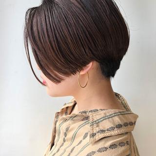 ストリート ショート 黒髪 ショートボブ ヘアスタイルや髪型の写真・画像