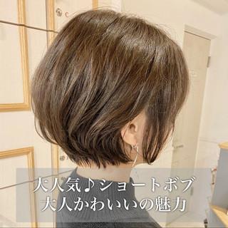 簡単ヘアアレンジ 小顔ショート ショート ナチュラル ヘアスタイルや髪型の写真・画像