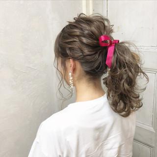 簡単ヘアアレンジ ガーリー ポニーテール 女子力 ヘアスタイルや髪型の写真・画像 ヘアスタイルや髪型の写真・画像