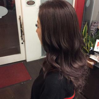 外国人風カラー セミロング ガーリー ダブルカラー ヘアスタイルや髪型の写真・画像 ヘアスタイルや髪型の写真・画像