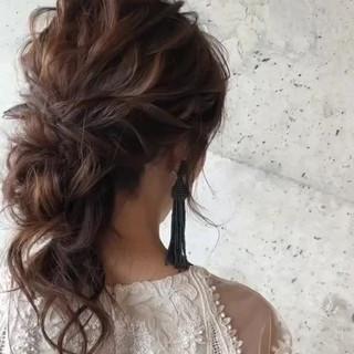 ヘアアレンジ ゆるふわ アンニュイ パーティ ヘアスタイルや髪型の写真・画像