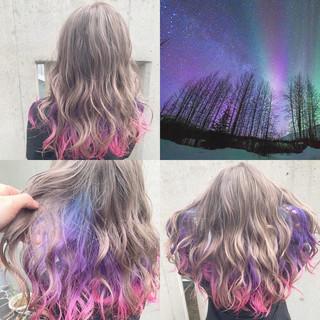 ハイトーン 派手髪 ストリート ベージュ ヘアスタイルや髪型の写真・画像