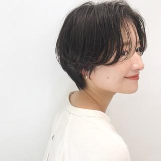 デート ショート ヘアアレンジ オフィス ヘアスタイルや髪型の写真・画像