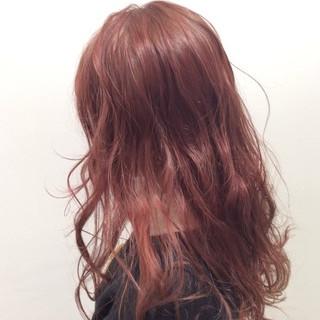 ベリーピンク ピンク チェリーレッド ロング ヘアスタイルや髪型の写真・画像 ヘアスタイルや髪型の写真・画像