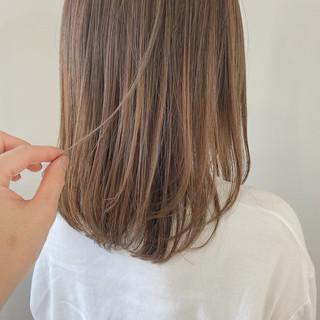 透明感カラー ハイライト 透明感 大人かわいい ヘアスタイルや髪型の写真・画像