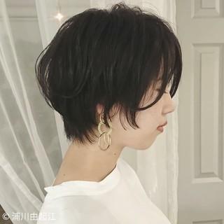 モード ハンサムショート 女子力 ショート ヘアスタイルや髪型の写真・画像