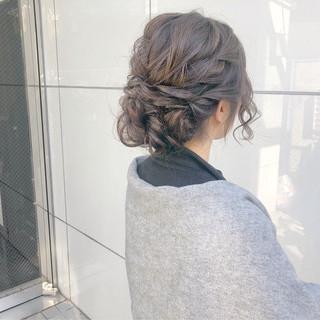 セミロング デート 結婚式 簡単ヘアアレンジ ヘアスタイルや髪型の写真・画像