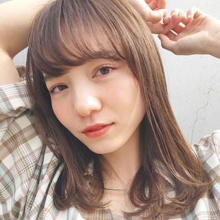 黒髪 簡単ヘアアレンジ ミディアムレイヤー ヘアアレンジ ヘアスタイルや髪型の写真・画像