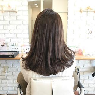 スモーキーカラー 3Dハイライト ナチュラル ロング ヘアスタイルや髪型の写真・画像