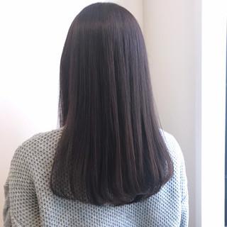 ロング ピンクバイオレット 艶髪 モテ髪 ヘアスタイルや髪型の写真・画像