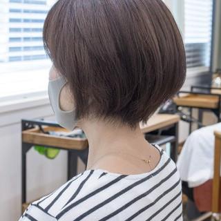 ショートヘア 前下がりショート ショートボブ 前下がりボブ ヘアスタイルや髪型の写真・画像
