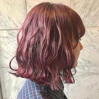 外国人風カラー セミロング 成人式 イルミナカラー ヘアスタイルや髪型の写真・画像