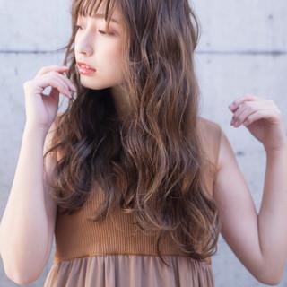 ガーリー アディクシーカラー ロング 簡単ヘアアレンジ ヘアスタイルや髪型の写真・画像 | 可愛いにはコツがある!ナチュラルizumi / Siena