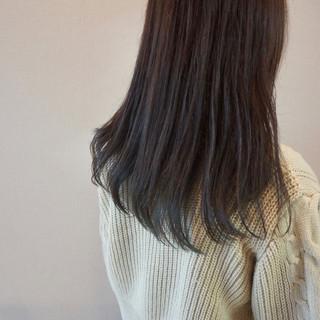 インナーカラー ダブルカラー インナーブルー ブルーアッシュ ヘアスタイルや髪型の写真・画像