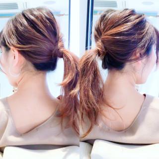 ロング ヘアアレンジ セルフヘアアレンジ ショート ヘアスタイルや髪型の写真・画像 ヘアスタイルや髪型の写真・画像