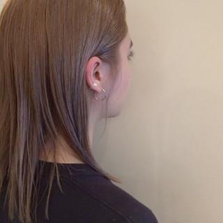 ハイトーン 抜け感 ナチュラル アッシュベージュ ヘアスタイルや髪型の写真・画像