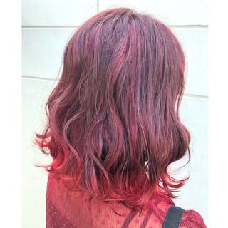 ハイライト カラフルカラー 個性的 モード ヘアスタイルや髪型の写真・画像