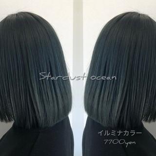 ブルージュ 派手髪 セミロング グラデーションカラー ヘアスタイルや髪型の写真・画像