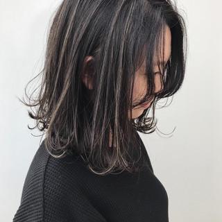 ボブ コンサバ ハイライト 大人かわいい ヘアスタイルや髪型の写真・画像