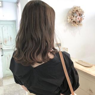 ゆるふわ 女子力 デート セミロング ヘアスタイルや髪型の写真・画像 ヘアスタイルや髪型の写真・画像