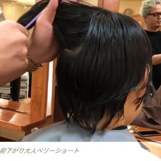 前下がりショート ハンサムショート ショート ナチュラル ヘアスタイルや髪型の写真・画像 ヘアスタイルや髪型の写真・画像